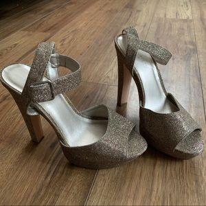 Le Chateau Glitter Open Toe Sandal